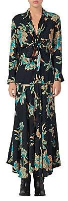 Sandro Women's Blaire Floral Knotted Midi Dress
