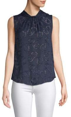 Rebecca Taylor Sleeveless Satin Top