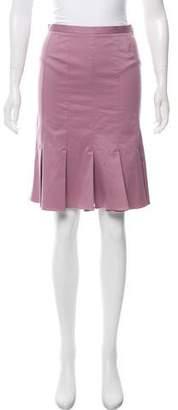 Anna Molinari Textured Pleated Skirt