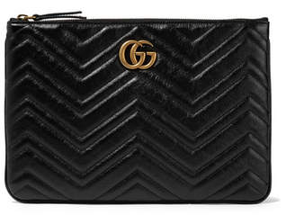 Gucci Marmont Quilted Leather Pouch - Black