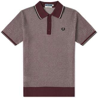 Fred Perry Authentic Reissue Two Colour Texture Knit Polo