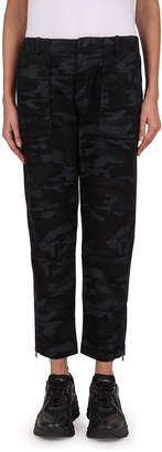 The Kooples Camouflage Zip-Hem Jeans