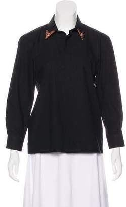 Givenchy Embellished Button-Up Top