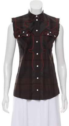 Dolce & Gabbana Plaid Wool Top