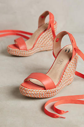 Vanessa Wu Colorful Wedge Sandals $118 thestylecure.com