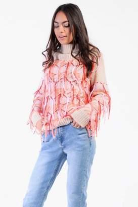 Glamorous **Multi Fringed Knitted Jumper