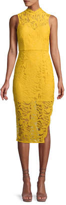 Aijek Melanie Sleeveless Dress in Lace