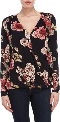 Bobeau Floral Wrap Top