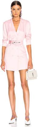 Fleur Du Mal Double Breasted Blazer Dress in Coral Blush | FWRD