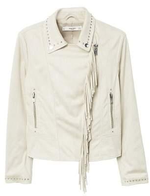 MANGO Fringe jacket
