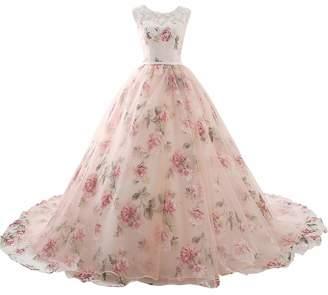 YNQNFS Elegant Lace Beach Wedding Dresses A Line Long Bridal Gown