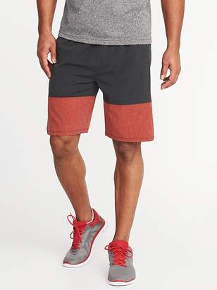 Old Navy Go-Dry Color-Block Stretch Shorts for Men - 9-inch inseam