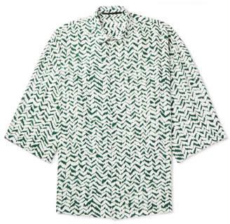 Haider Ackermann Oversized Printed Voile Shirt