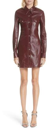 Calvin Klein Leather Western Shirtdress