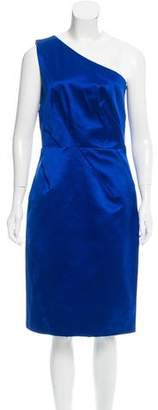 Michael Kors One-Shoulder Satin Dress w/ Tags