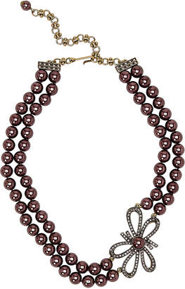 Heidi Daus Bow Advice Double Strand Faux Pearl Necklace