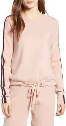 Noisy May Shea Stripe Sleeve Sweatshirt