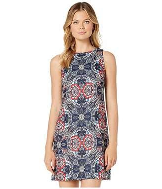 Vince Camuto Printed Jacquard Sleeveless Shift Dress