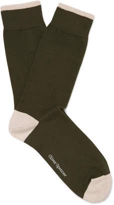 Oliver Spencer Loungewear Turton Stretch Cotton-Blend Socks