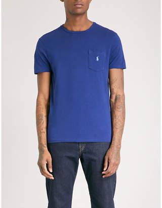 Polo Ralph Lauren Logo-embroidered pocket cotton-jersey T-shirt