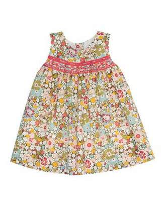 Bonpoint Sleeveless Floral Poplin Shift Dress, Red/Multicolor, Size 18M-2Y $185 thestylecure.com