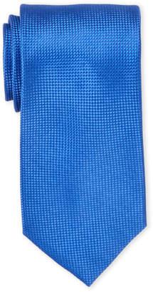 Ike Behar Ike By Solid Black Textured Silk Tie