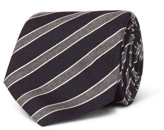 Canali 8cm Striped Wool And Silk-Blend Tie
