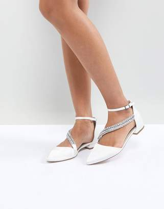 Asos (エイソス) - Asos Design ASOS LETS GET MARRIED Bridal Embellished Ballet Flats
