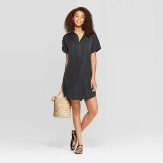 Universal Thread Women's Short Sleeve Collared At Knee Shirtdress