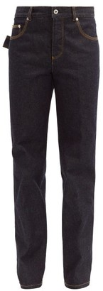 Bottega Veneta Denim Straight Cut Jeans - Womens - Dark Blue