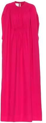 Valentino Cape silk gown
