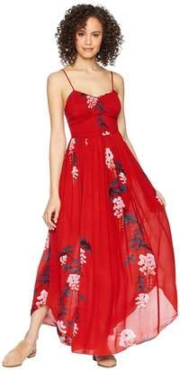Free People Beau Smocked Printed Slip Women's Dress