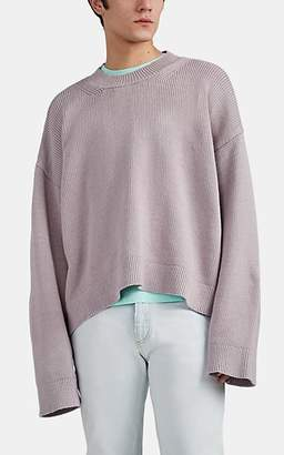 Maison Margiela Men's Cotton-Blend Oversized Sweater - Violet