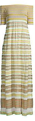 M Missoni Women's Off-The-Shoulder Maxi Dress
