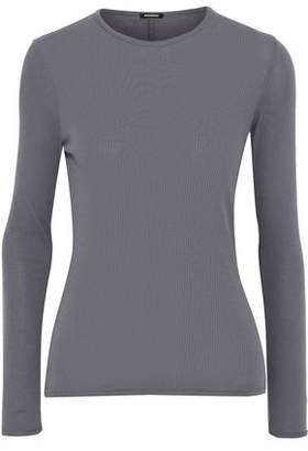 Monrow Ribbed Stretch-Supima Cotton Jersey Top