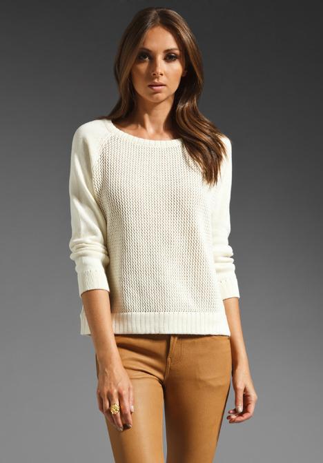 Tibi Hanne Pullover Sweater Ivory