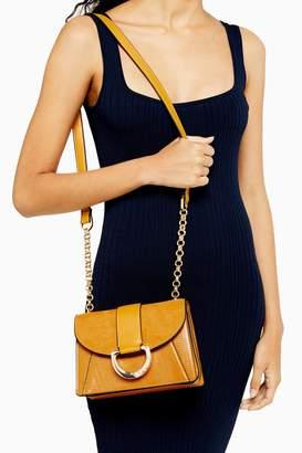 Topshop CALI Mustard Cross Body Bag
