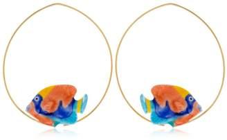 Nach Rainbow Box Fish Hoop Earrings