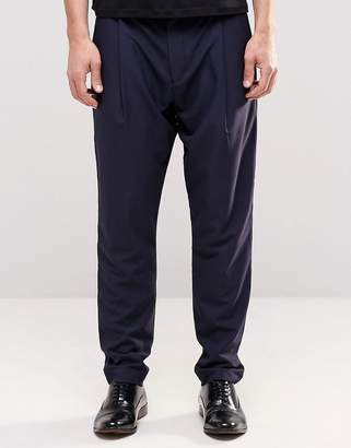 Asos Smart Trousers In Drop Crotch