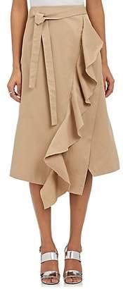 Robert Rodriguez Women's Ruffle-Trimmed A-Line Skirt - Olive