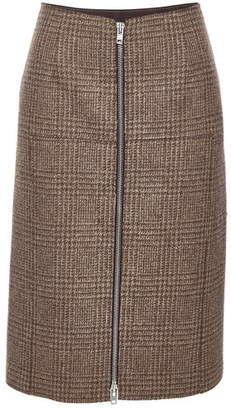 Maison Margiela Printed Wool Pencil Skirt with Zip