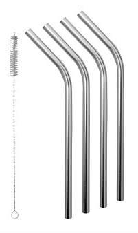 Avanti Stainless Steel Smoothie Straws Set Of 4