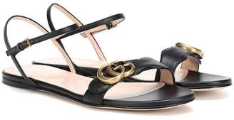 Gucci Double G strap leather sandals