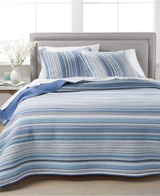 Martha Stewart Collection Coastal Yarndye Twin Quilt