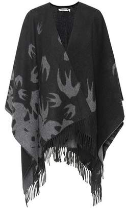 McQ Swallow wool cape