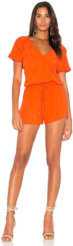 HEARTLOOM Malena Romper in Orange