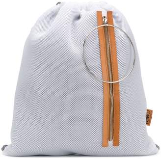 fd1555470433 MM6 MAISON MARGIELA mesh drawstring backpack