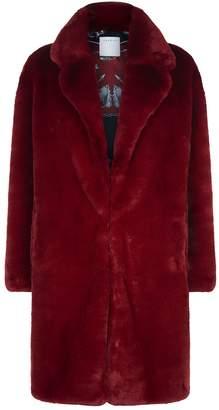 Sandro Oversized Faux Fur Coat