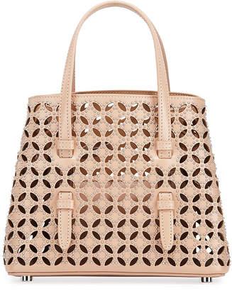 Alaia Micro Tote Bag in Cuir Lux Petal