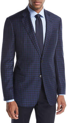 Armani Collezioni District Check Wool Two-Button Sport Coat